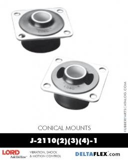 LORD-Conical-Mounts-J-21102-1, J-21103-1, J-21104-1  Delta Flex