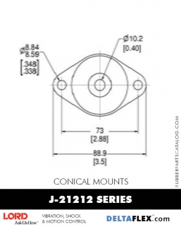 Rubber-Parts-Catalog-Delta-Flex-LORD-Conical-Mounts-J-21212-Series
