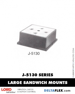 Rubber-Parts-Catalog-Delta-Flex-LORD-Flex-Bolt-LARGE-Sandwich-Mounts-J-5130-SERIES