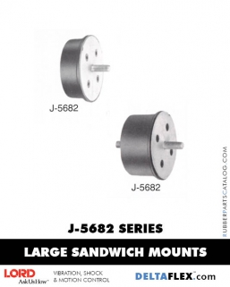 Rubber-Parts-Catalog-Delta-Flex-LORD-Flex-Bolt-LARGE-Sandwich-Mounts-J-5682-SERIES