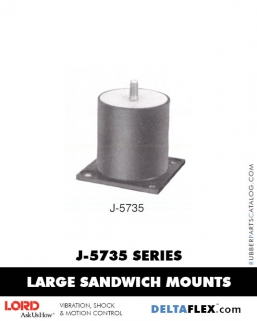 Rubber-Parts-Catalog-Delta-Flex-LORD-Flex-Bolt-LARGE-Sandwich-Mounts-J-5735-SERIES