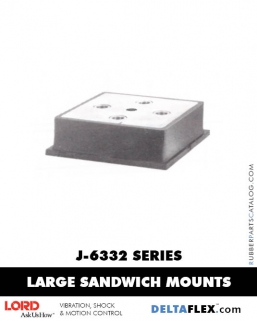 Rubber-Parts-Catalog-Delta-Flex-LORD-Flex-Bolt-LARGE-Sandwich-Mounts-J-6332-SERIES