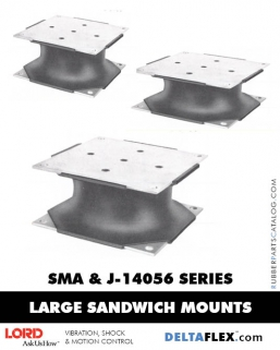 Rubber-Parts-Catalog-Delta-Flex-LORD-Flex-Bolt-LARGE-Sandwich-Mounts-SMA-J-14056-SERIES
