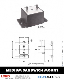 Rubber-Parts-Catalog-Delta-Flex-LORD-Flex-Bolt-Medium-Sandwich-Mounts-J-5294