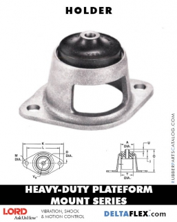 Heavy-Duty Plateform Mount - Holder LORD Corporation, Vibration, Shock, Motion Control, Vibration Mounts, Vibration Isolators