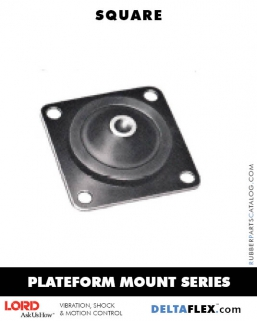 Delta Flex Vibration Isolator LORD Plateform Mount Series | Square