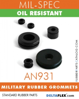 AN931 MIL-SPEC RUBBER GROMMET | OIL RESISTANT MILITARY Rubber GROMMETS