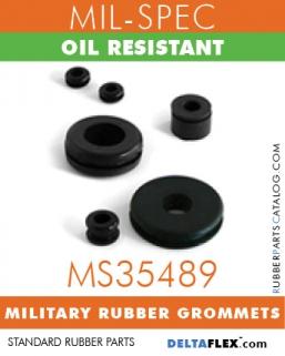 MS35489 Military Grommets | Oil Resistant Mil-Spec Rubber Grommet