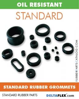 Oil Resistant Rubber Grommets - Standard