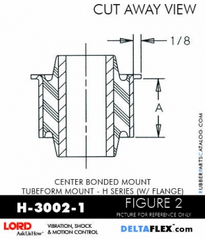 Rubber-Parts-Catalog-Delta-Flex-LORD-Corporation-Vibration-Control-Center-Bonded-Mounts-H-3002-1