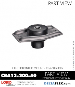 Rubber-Parts-Catalog-Delta-Flex-LORD-Corporation-Vibration-Control-Center-Bonded-Mounts-CBA12-200-50