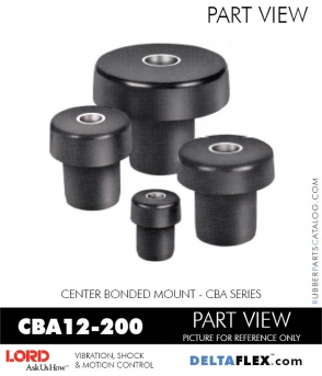 Rubber-Parts-Catalog-Delta-Flex-LORD-Corporation-Vibration-Control-Center-Bonded-Mounts-CBA12-200