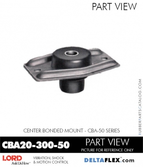 Rubber-Parts-Catalog-Delta-Flex-LORD-Corporation-Vibration-Control-Center-Bonded-Mounts-CBA20-300-50