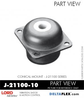 Rubber-Parts-Catalog-Delta-Flex-LORD-Corporation-Conical-Mount-J-21100-10