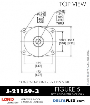 Rubber-Parts-Catalog-Delta-Flex-LORD-Corporation-Conical-Mount-J-21159-3