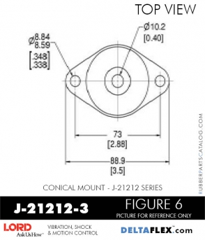 Rubber-Parts-Catalog-Delta-Flex-LORD-Corporation-Conical-Mount-J-21212-3