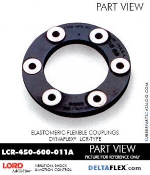 Rubber-Parts-Catalog-Delta-Flex-LORD-DYNAFLEX-Coupling-LCR-Type-LCR-450-600-011A