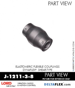 RUBBER-PARTS-CATALOG-DELTAFLEX-Vibration-Isolator-LORD-Dynaflex-Shear-Type-Couplings -Coupling-J-1211-3-8
