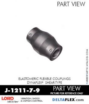 RUBBER-PARTS-CATALOG-DELTAFLEX-Vibration-Isolator-LORD-Dynaflex-Shear-Type-Couplings -Coupling-J-1211-7-9