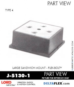 Rubber-Parts-Catalog-Delta-Flex-LORD-Flex-Bolt-Large-Sandwich-Mounts-J-5130-1