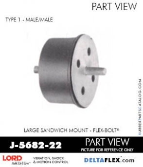 Rubber-Parts-Catalog-Delta-Flex-LORD-Flex-Bolt-Large-Sandwich-Mounts-J-5682-22