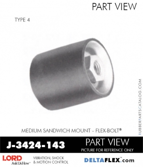 Rubber-Parts-Catalog-Delta-Flex-LORD-Flex-Bolt-Medium-Sandwich-Mounts-Femal-Female-J-3424-143