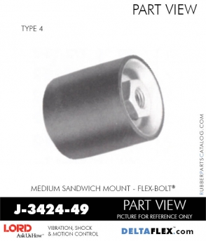 Rubber-Parts-Catalog-Delta-Flex-LORD-Flex-Bolt-Medium-Sandwich-Mounts-Femal-Female-J-3424-49