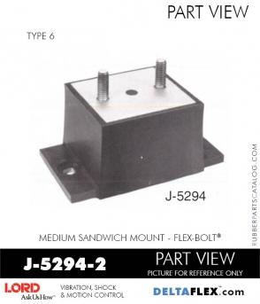 Rubber-Parts-Catalog-Delta-Flex-LORD-Flex-Bolt-Medium-Sandwich-Mounts-J-5294-2