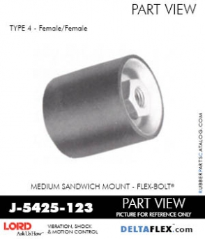 Rubber-Parts-Catalog-Delta-Flex-LORD-Flex-Bolt-Medium-Sandwich-Mounts-Femal-Female-J-5425-123