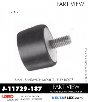 Rubber-Parts-Catalog-Delta-Flex-LORD-Flex-Bolt-Small-Sandwich-Mounts-J-11729-187