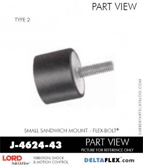 Rubber-Parts-Catalog-Delta-Flex-LORD-Flex-Bolt-Small-Sandwich-Mounts-J-4624-43