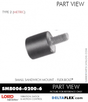 Rubber-Parts-Catalog-Delta-Flex-LORD-Flex-Bolt-Small-Sandwich-Mounts-SMB006-0200-6