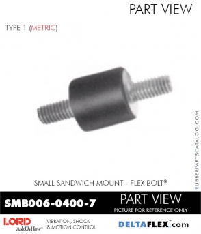 Rubber-Parts-Catalog-Delta-Flex-LORD-Corporation-Flex-Bolt-Small-Sandwich-Mounts-SMB006-0400-7