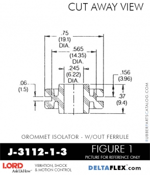 Rubber-Parts-Catalog-Delta-Flex-LORD-Corporation-Grommet-Isolators-with-Threaded-Ferrule-J-3112-1-3