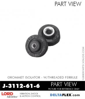 Rubber-Parts-Catalog-Delta-Flex-LORD-Corporation-Grommet-Isolators-with-Threaded-Ferrule-J-3112-61-6