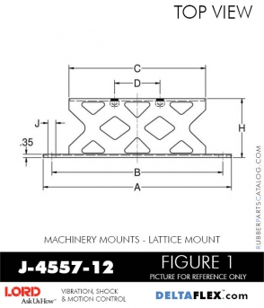 RUBBER-PARTS-CATALOG-DELTA-FLEX-LORD-CORPORATION-VIBRATION-ISOLATER-Machinery-Mounts-LATTICE-MOUNT-J-4557-12