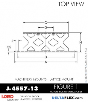 RUBBER-PARTS-CATALOG-DELTA-FLEX-LORD-CORPORATION-VIBRATION-ISOLATER-Machinery-Mounts-LATTICE-MOUNT-J-4557-13