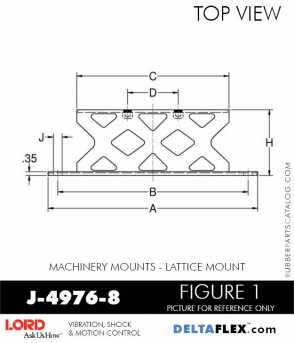 RUBBER-PARTS-CATALOG-DELTA-FLEX-LORD-CORPORATION-VIBRATION-ISOLATER-Machinery-Mounts-LATTICE-MOUNT-J-4976-8