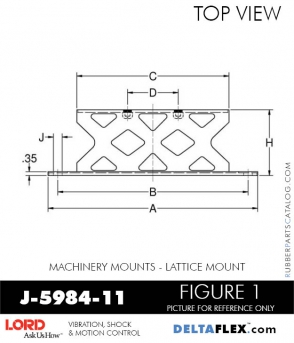 RUBBER-PARTS-CATALOG-DELTA-FLEX-LORD-CORPORATION-VIBRATION-ISOLATER-Machinery-Mounts-LATTICE-MOUNT-J-5984-11