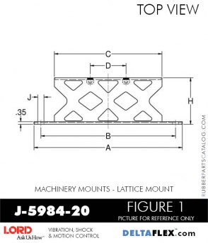 RUBBER-PARTS-CATALOG-DELTA-FLEX-LORD-CORPORATION-VIBRATION-ISOLATER-Machinery-Mounts-LATTICE-MOUNT-J-5984-20