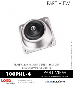 RUBBER-PARTS-CATALOG-DELTAFLEX-Vibration-Isolator-LORD-PLATEFORM-MOUNT-SERIES-HOLDER-100PHL-4