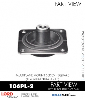RUBBER-PARTS-CATALOG-DELTAFLEX-Vibration-Isolator-LORD-Corporation-PLATEFORM-MOUNT-SERIES-Square-106PL-2