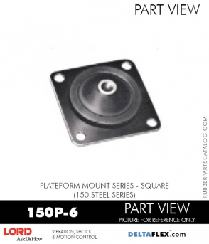 RUBBER-PARTS-CATALOG-DELTAFLEX-Vibration-Isolator-LORD-Corporation-PLATEFORM-MOUNT-SERIES-Square-150P-6