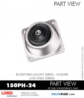 RUBBER-PARTS-CATALOG-DELTAFLEX-Vibration-Isolator-LORD-PLATEFORM-MOUNT-SERIES-HOLDER-150PH-24