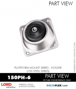 RUBBER-PARTS-CATALOG-DELTAFLEX-Vibration-Isolator-LORD-PLATEFORM-MOUNT-SERIES-HOLDER-150PH-6