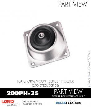RUBBER-PARTS-CATALOG-DELTAFLEX-Vibration-Isolator-LORD-PLATEFORM-MOUNT-SERIES-HOLDER-200PH-35