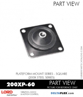 RUBBER-PARTS-CATALOG-DELTAFLEX-Vibration-Isolator-LORD-Corporation-PLATEFORM-MOUNT-SERIES-Square-200XP-60