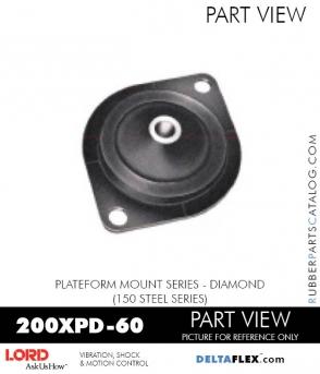 RUBBER-PARTS-CATALOG-DELTAFLEX-Vibration-Isolator-LORD-Corporation-PLATEFORM-MOUNT-SERIES-DIAMOND-200XPD-60