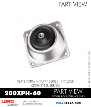 RUBBER-PARTS-CATALOG-DELTAFLEX-Vibration-Isolator-LORD-PLATEFORM-MOUNT-SERIES-HOLDER-200XPH-60