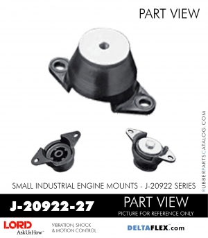 RUBBER-PARTS-CATALOG-DELTAFLEX-Vibration-Isolator-LORD-Small-Industrial-Engine-Mount-J-20922-Series-J-20922-27